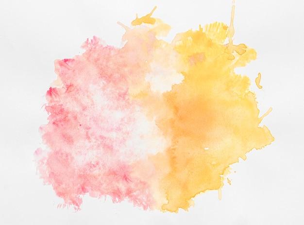 Aquarela cópia espaço tinta dupla colorida