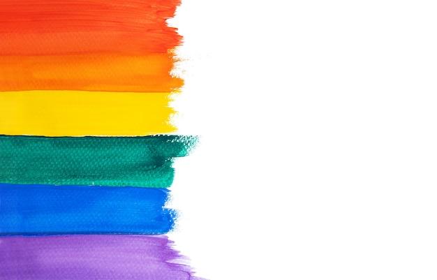 Aquarela de arco-íris. fundo abstrato com espaço de cópia isolado