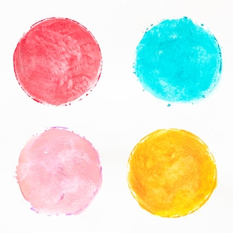 Aquarela de círculos coloridos