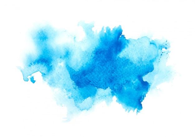 Aquarela de cor azul.