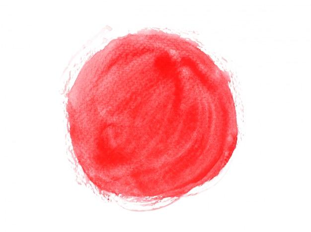 Aquarela de cor vermelha.