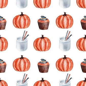 Aquarela de doces culinários para o halloween