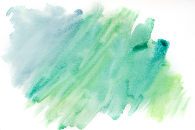 Aquarela de fundo, azul e verde. textura de fundo abstrato