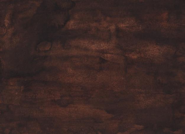 Aquarela de fundo castanho chocolate escuro líquido