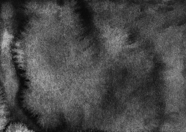 Aquarela de fundo preto e branco antigo. pano de fundo aquarela cinza escuro. textura monocromática grunge, pintada à mão