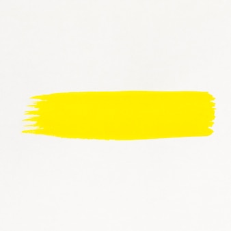 Aquarela de linha escova amarela pintada