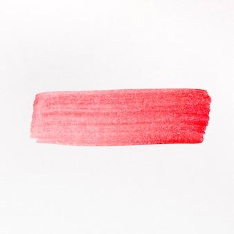 Aquarela de linha pincel vermelho pintada
