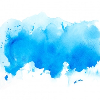 Aquarela de tons azuis