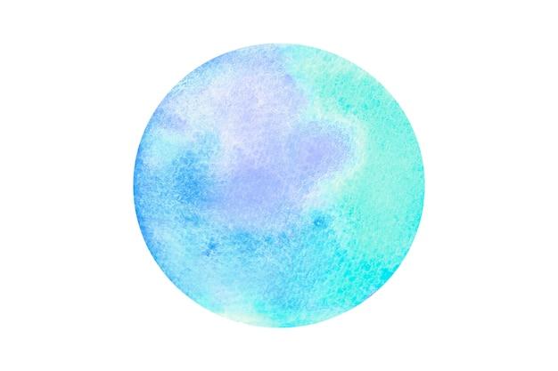 Aquarela desenhada à mão forma arredondada