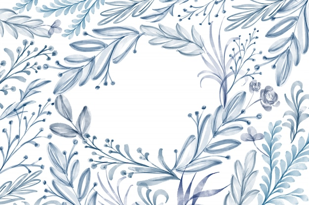 Aquarela flor moldura verão folha isolado no fundo branco