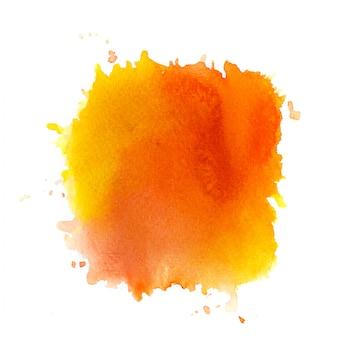 Aquarela laranja em fundo branco.