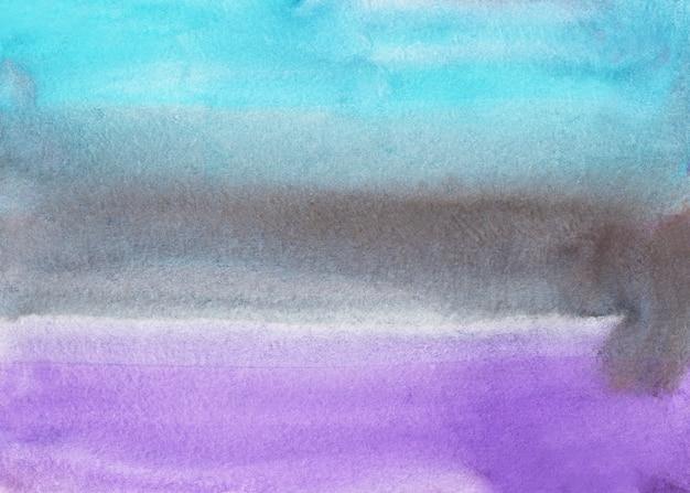 Aquarela luz azul, cinza, roxo ombre textura de fundo.