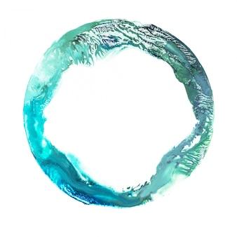 Aquarela mancha azul e verde