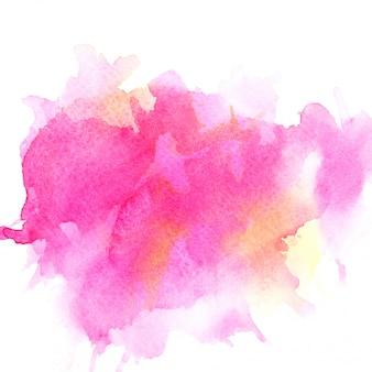 Aquarela rosa em papel.