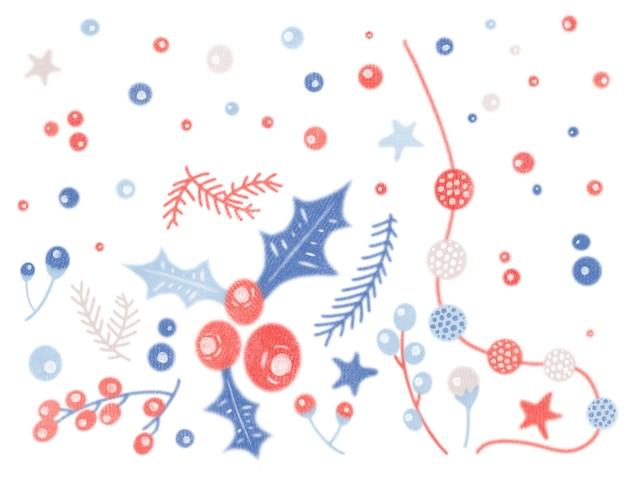 Aquarela vintage com ilustração aconchegante de natal isolada no fundo branco