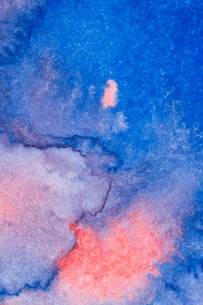Aquarelle de técnica artesanal rosa e azul