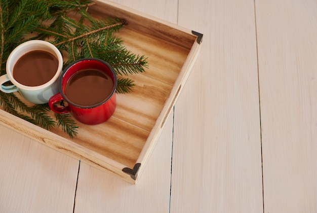 Aqueça-se bebendo chocolate quente