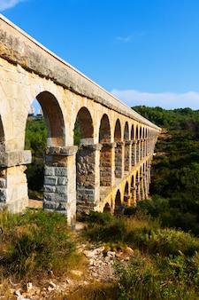 Aqueduto romano de ferreres em tarragona