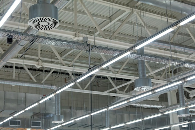 Ar condicionado de teto do estádio ou telhado do salão de exposições