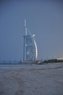 Arab burjul ao pôr do sol