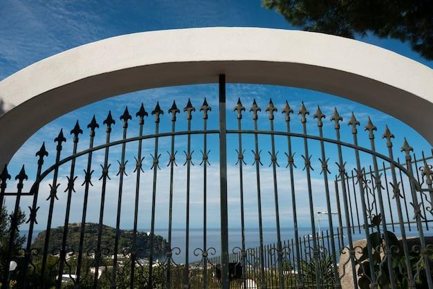 Arco, com, cerca metal, lacco, ameno, campania, itália