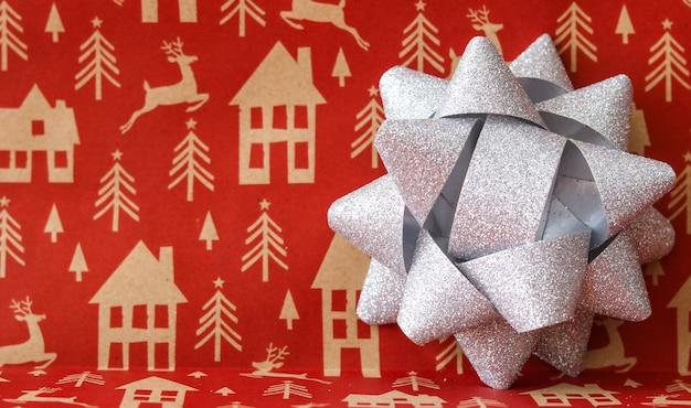 Arco de presente de decoração de natal