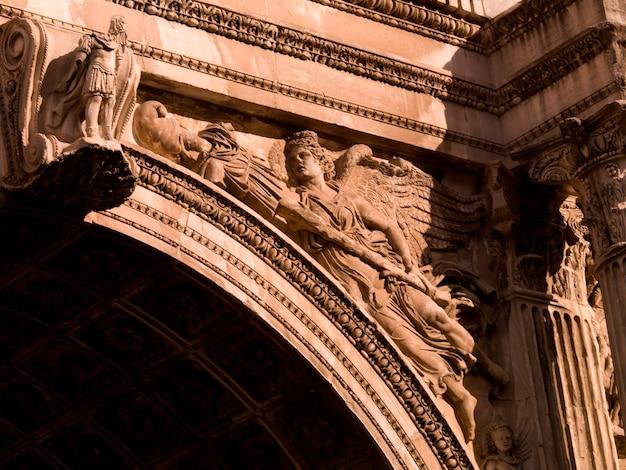 Arco de septímio severo no fórum em roma