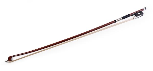 Arco de violino isolado no branco