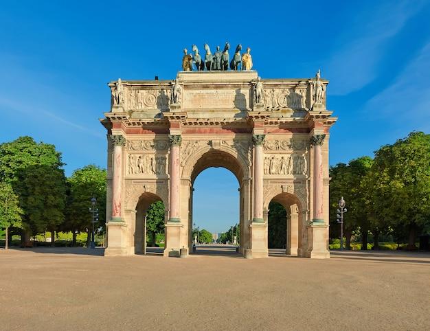 Arco do triunfo do carrossel em paris