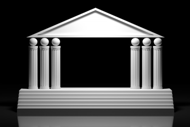Arco grego de estilo antigo, arcada de colunas