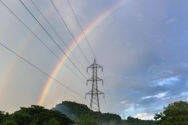 Arco-íris depois da chuva.