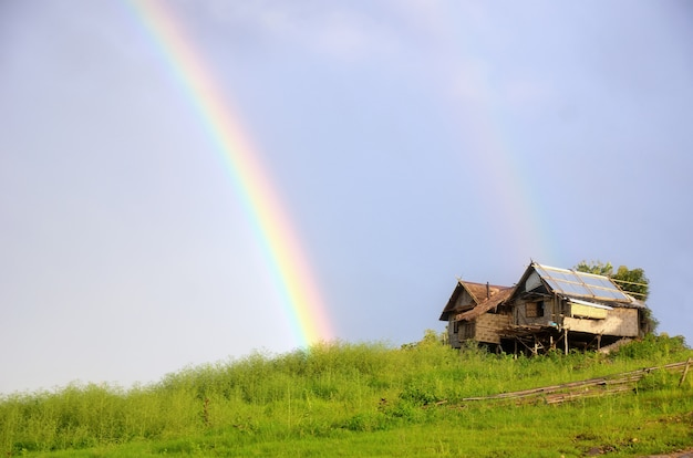 Arco-íris na cabana