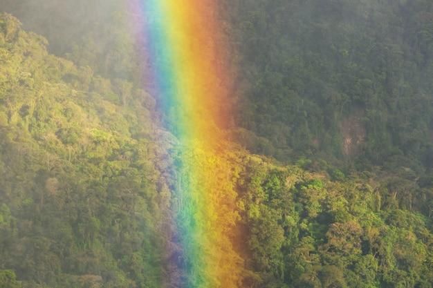 Arco-íris natural colorido brilhante.