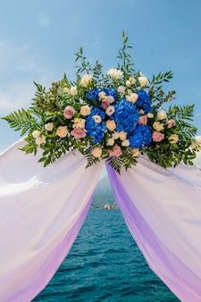 Arco para a cerimônia de casamento