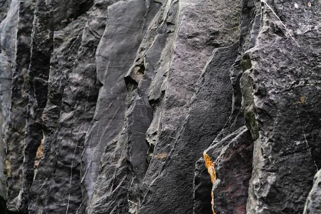 Ardósia preta escura natural com pedra cinzenta