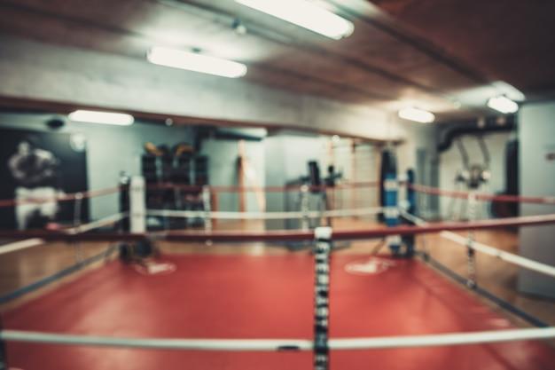 Área de boxe na academia