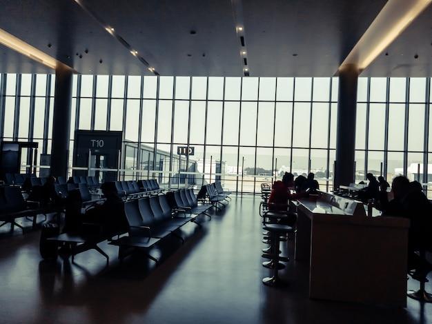 Área de espera no aeroporto