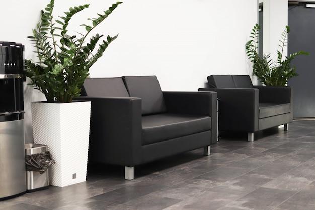 Área de espera, sofás na área de espera, interior elegante