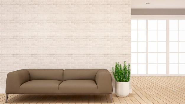 Área de estar e área de salão em apartamento ou casa - design de interiores para obras de arte