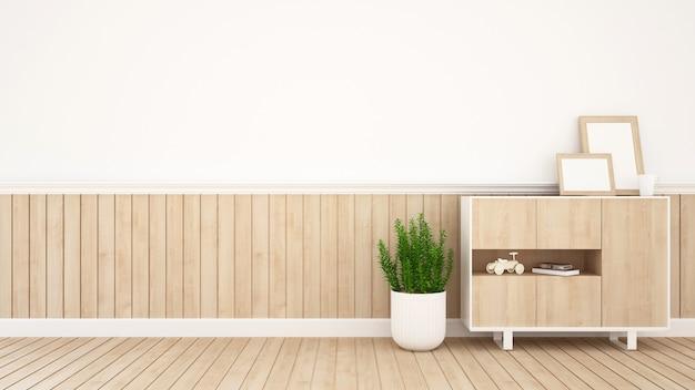 Área de estar em café ou quarto de criança - renderização em 3d