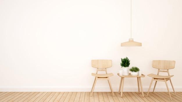Área de estar em café ou restaurante - renderização em 3d