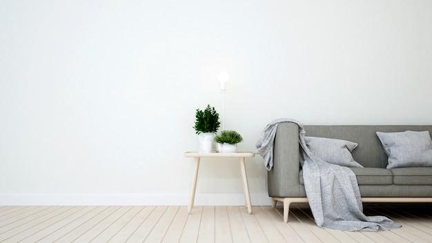 Área de estar em cafeteria ou apartamento