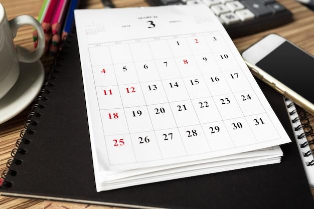 Área de trabalho. calendário