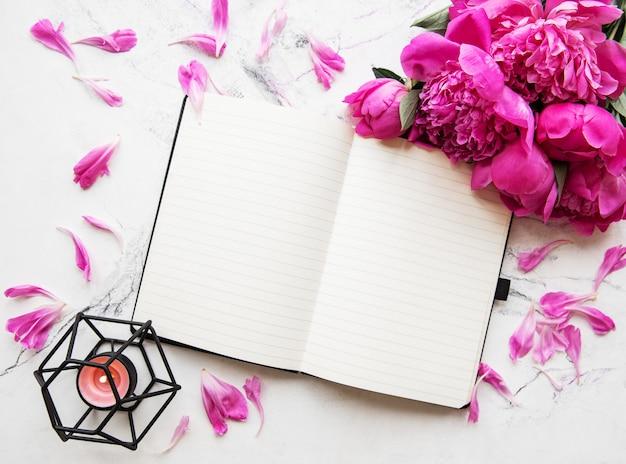 Área de trabalho do blogger ou freelancer