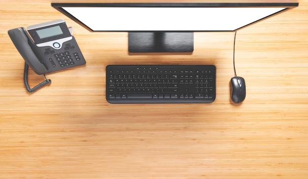 Área de trabalho do computador