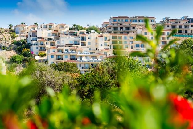 Áreas residenciais nas casas de chipre