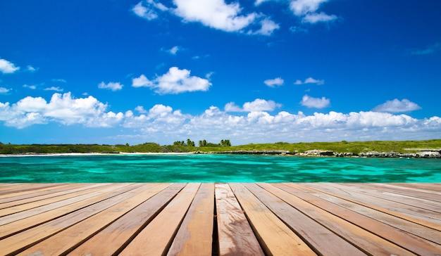 Areia da praia do mar caribenho