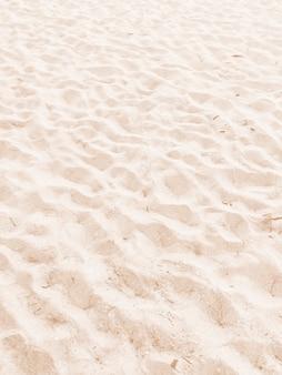 Areia de praia fina no verão