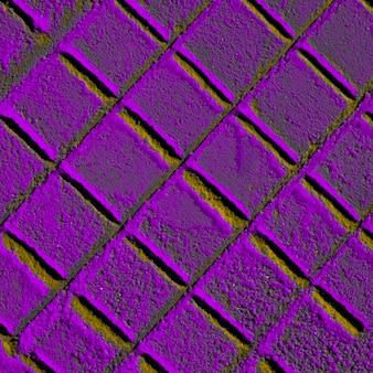 Areia violeta com formas de diamante