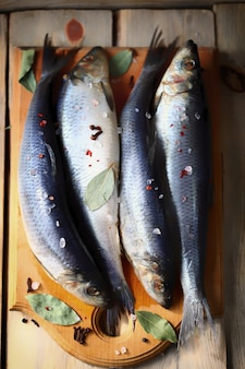 Arenque norueguês peixe de água salgada ômega 3
